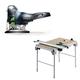 Festool C27495315 Carvex 18V Cordless Lithium-Ion Barrel Grip Jigsaw (Bare Tool) plus Multi-Function Work Table