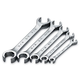 SK Hand Tool 381 5-Piece SuperKrome SAE Flare Nut 6-Point Wrench Set