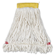 Rubbermaid A251WHI 6-Piece Web Foot Small Shrinkless Cotton/Synthetic Wet Mop Head with 5 in. Headband (White)