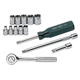 SK Hand Tool 1314 14-Piece 1/4 in. Drive 6-Point Metric Socket Set