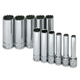 SK Hand Tool 1350 11-Piece 1/4 in. Drive 12-Point Deep Well Metric Socket Set