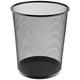 Rubbermaid WMB20BK 5-Gallon Round Steel Mesh Wastebasket (Black)