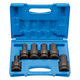 Grey Pneumatic 9096H 6-Piece 1 in. Drive Standard Hex Driver Impact Socket Set