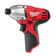 Milwaukee 2450-20 M12 12V Cordless Lithium-Ion 1/4 in. Impact Driver (Bare Tool)