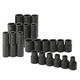 SK Hand Tool 4052 22-Piece 1/2 in. Drive 6-Point Std/Deep Well Metric Impact Socket Set