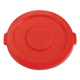 Rubbermaid 2631RED Round Flat Top Lid (Red) for 22-1/4 in. Brute Containers