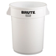 Rubbermaid 2632WHI 32 Gal. Round Brute Container (White)