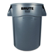 Rubbermaid 264360GY 44 Gal. Brute Vented Trash Receptacle (Gray)