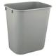 Rubbermaid 2955GRA 3.5 Gal. Desk side Plastic Wastebasket (Gray)