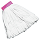 Rubbermaid T255 12-Piece Rough Floor Medium Cotton/Synthetic Mop Head (White)