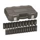 GearWrench 84935N 29-Piece Metric 1/2 in. Drive Deep Impact Socket Set