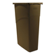 Rubbermaid 3540BRO 23 Gal. Slim Jim Recycling Container (Brown)