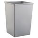 Rubbermaid 3958GRA Untouchable 35-Gallon Square Plastic Waste Container (Gray)