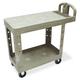 Rubbermaid 450500BG 500 lb. Capacity 19-1/5 in. x 37-7/8 in. x 33-1/3 in. Flat Shelf Utility Cart (Beige)