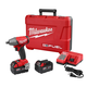 Factory Reconditioned Milwaukee 2755-82 FUEL M18 18V 5.0 Ah Cordless Lithium-Ion 1/2 in. Compact Impact Wrench with Pin Detent Kit