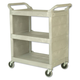 Rubbermaid 335588PLA 300 lb. Capacity 32 in. x 18 in. x 37-1/2 in. Utility Cart (Platinum)