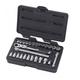 GearWrench 891427 27-Piece 1/4 in. Drive SAE/Metric XL Pass-Thru Locking Flex Ratchet Set