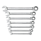 GearWrench 9417 7-Piece Standard Metric Combination Ratcheting Wrench Set
