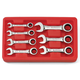 GearWrench 9507D 7-Piece SAE Stubby Combination Ratcheting Wrench Set