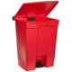 Rubbermaid 614500RED Indoor Utility 18-Gallon Rectangular Step-On Waste Container (Red)