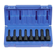 Grey Pneumatic 1300T 8-Piece 1/2 in. Drive Internal Star Impact Driver Socket Set