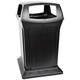 Rubbermaid 917388BLA Ranger 45-Gallon Fire-Safe Structural Foam Square Container (Black)