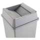 Rubbermaid 2664GRAY 20-1/8 in. x 20-1/8 in. Untouchable Square Swing Top Lid (Gray)