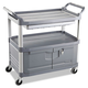 Rubbermaid 4094GRA 300 lb. Capacity 20 in. x 40-5/8 in. x 37-4/5 in. Xtra Utility Cart (Gray)