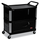 Rubbermaid 4095BLA 300 lb. Capacity 20 in. x 40-5/8 in. x 37-4/5 in. Xtra Utility Cart (Black)