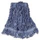 Rubbermaid D212BLU 6-Piece Super Stitch Blend Medium Cotton/Synthetic Mop Head (Blue)