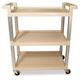 Rubbermaid 9T6571BG 100 lb. Capacity 16-1/4 in. x 31-1/2 in. x 36 in. Service Cart (Beige)