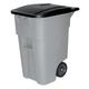 Rubbermaid 9W27GY Brute 50-Gallon Square Plastic Rollout Container (Gray)