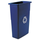 Rubbermaid 354075BE 23 Gal. Slim Jim Recycling Container (Blue)