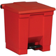 Rubbermaid 6143RED Indoor Utility 8-Gallon Square Step-On Waste Container (Red)