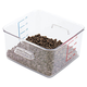 Rubbermaid 6304CLE 4 qt. 8-4/5 in. x 8-3/4 in. x 4-3/4 in. SpaceSaver Square Container (Clear)