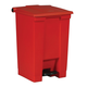 Rubbermaid 6144RED Indoor Utility 12-Gallon Square Step-On Waste Container (Red)