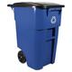 Rubbermaid 9W27BLU Brute 50-Gallon Square Plastic Rollout Container (Blue)