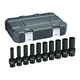 GearWrench 84945N 10-Piece 1/2 in. Drive Metric Deep Universal Socket Set