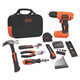 Black & Decker BDCD8PK 8V MAX Cordless Lithium-Ion 54-Piece Project Kit