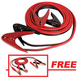 FJC 45245P 25 ft. 600 Amp Commercial-Duty Booster Cable with FREE 12 ft. 250 Amp Light-Duty Booster Cable