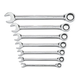 GearWrench 9317 7-Piece SAE Combination Ratcheting Wrench Set