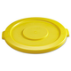 Rubbermaid 2631YEL Round Flat Top Lid (Yellow) for 22-1/4 in. Brute Containers