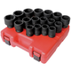 Sunex 4684 17-Piece 3/4 in. Drive Metric Heavy-Duty Impact Socket Set