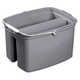 Rubbermaid 2617GRA 17 qt. Double Utility Pail (Gray)