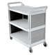 Rubbermaid 4093CRE 300 lb. Capacity 20 in. x 40-5/8 in. x 37-4/5 in. Xtra Utility Cart (Off-White)