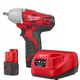 Milwaukee 2451-22 M12 12V Cordless Lithium-Ion 3/8 in. Impact Wrench