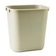 Rubbermaid 295500BG 3.5 Gal. Desk side Plastic Wastebasket (Beige)