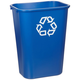 Rubbermaid 295773BE 41.25 qt. Large Desk side Plastic Recycle Container (Blue)
