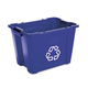 Rubbermaid 571473BE 14 Gal. Stacking Recycle Bin (Blue)