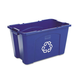 Rubbermaid 571873BE 18 Gal. Stacking Recycle Bin (Blue)